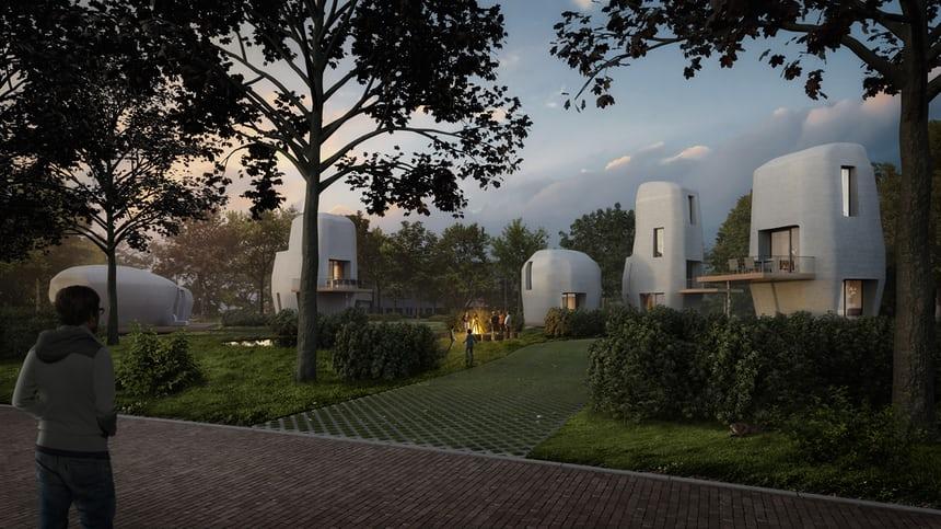 유럽2-네덜란드, 3D 프린팅으로 만든 집 선보여 가디언지.jpg