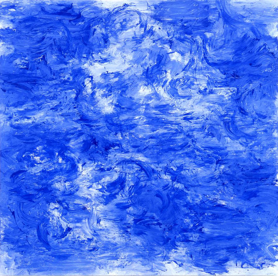 김춘수, Blanco y Azul, 2004.jpg