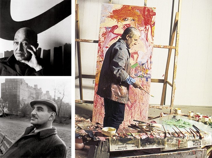 Clement Greenberg (top), Harold Rosenberg, and (right) Willem de Kooning.jpg