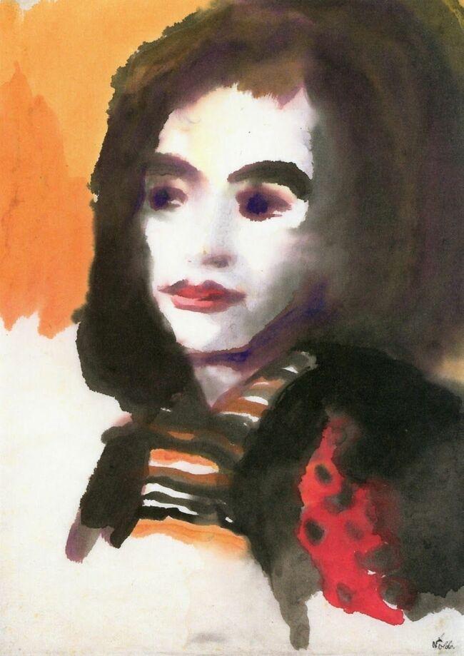 4Emil Nolde, Portrait of a Woman (Jolanthe Nolde), c.1950.jpg