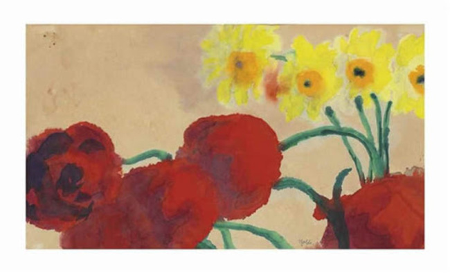 6Emil Nolde, Moonflowers and Narcissum (Duchy of Schleswig), 1915.jpg