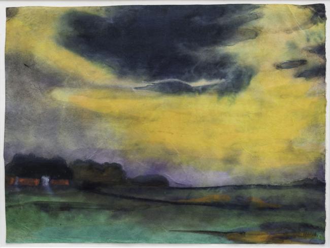 7Emil Nolde, Abendhimmel, ca. 1930.jpg