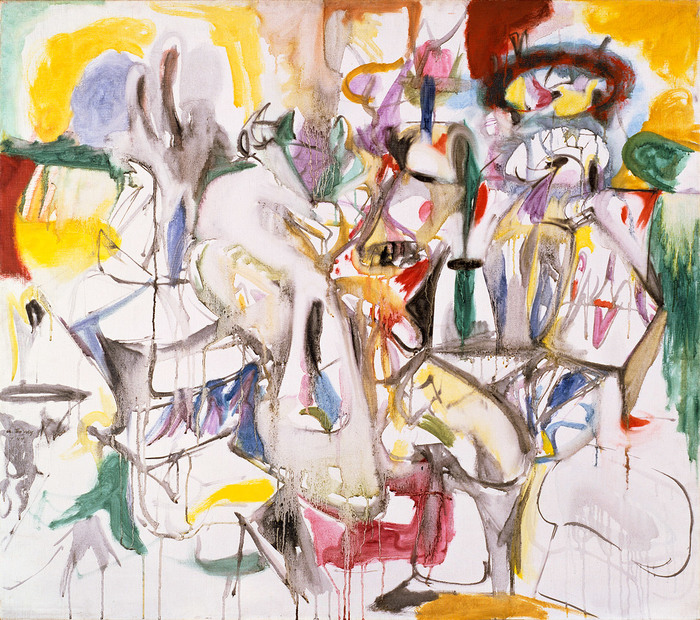 5Arshile Gorky, How My Mother's Embroidered Apron Unfolds In..., 1944.jpg