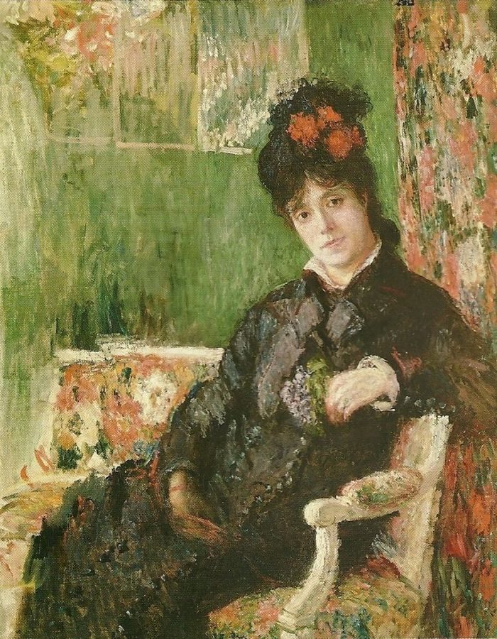 1Camille Holding a Posy of Violets by Claude Monet in oil on canvas, done in c. 1876.jpg