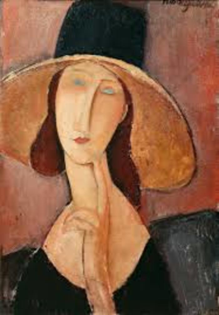 2모딜리아니가 그린 큰 모자를 쓴 그의 아내, 잔 에뷔테른.jpg