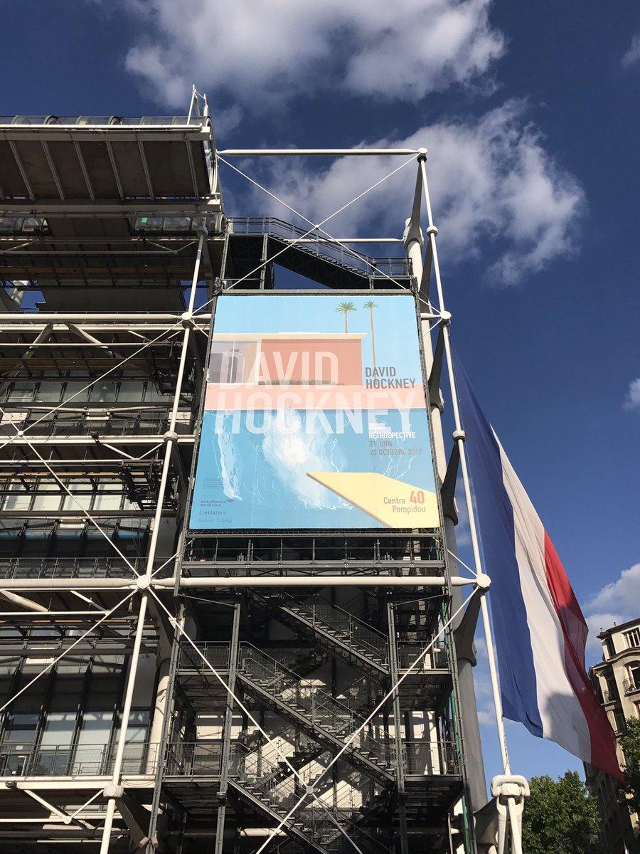 파리 퐁피두 센터에서의 데이비드 호크니 전시.jpg