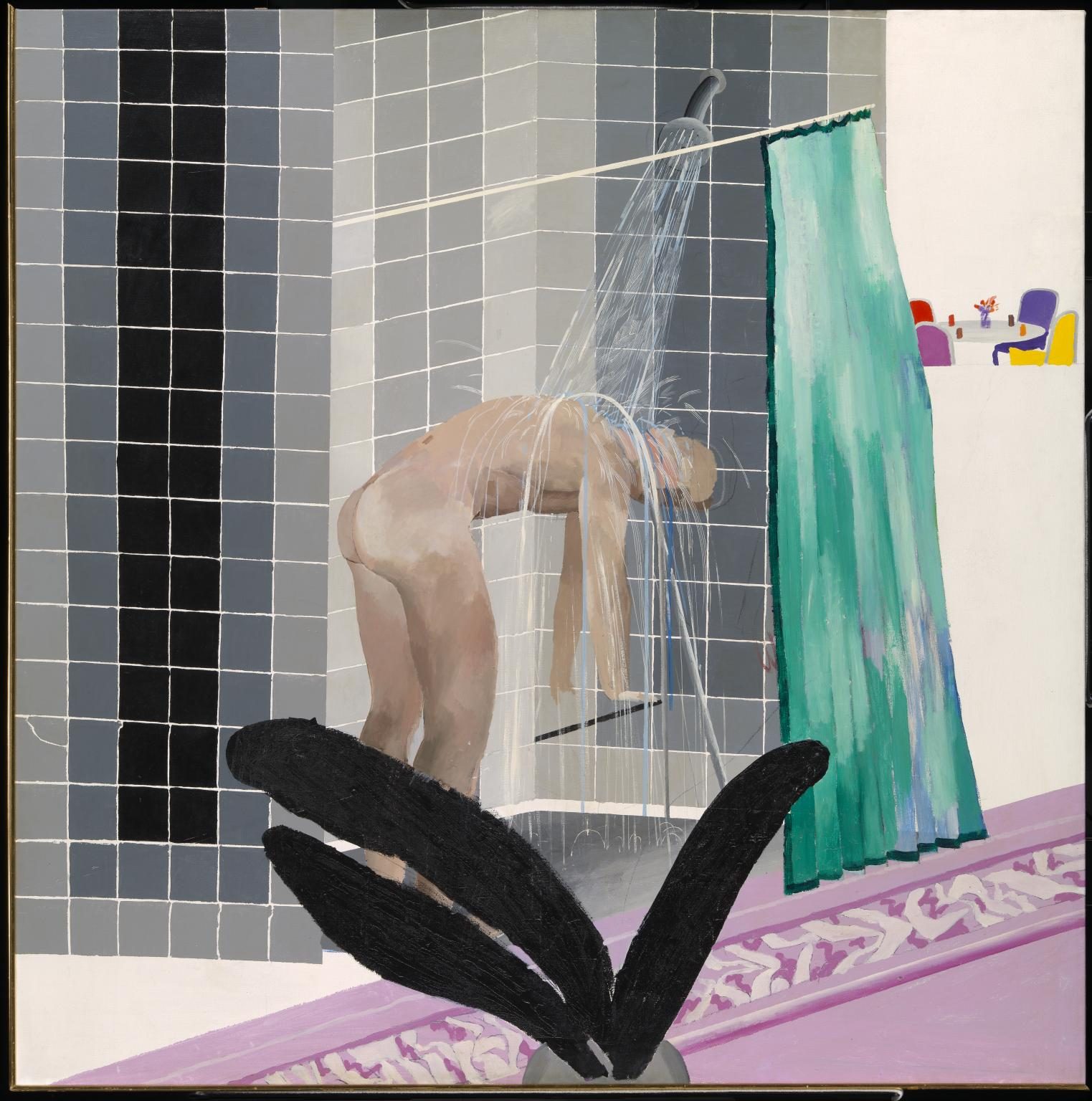 David Hockney, Man in Shower in Beverly Hills,1964.jpg