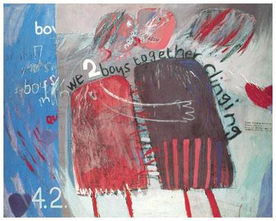 David Hockney, 서로 껴안고 있는 우리 두 사람, 1961.jpg