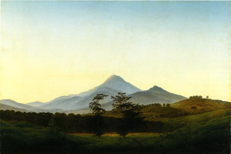 Caspar David Friedrich, Bohemian Landscape, 1808.jpg