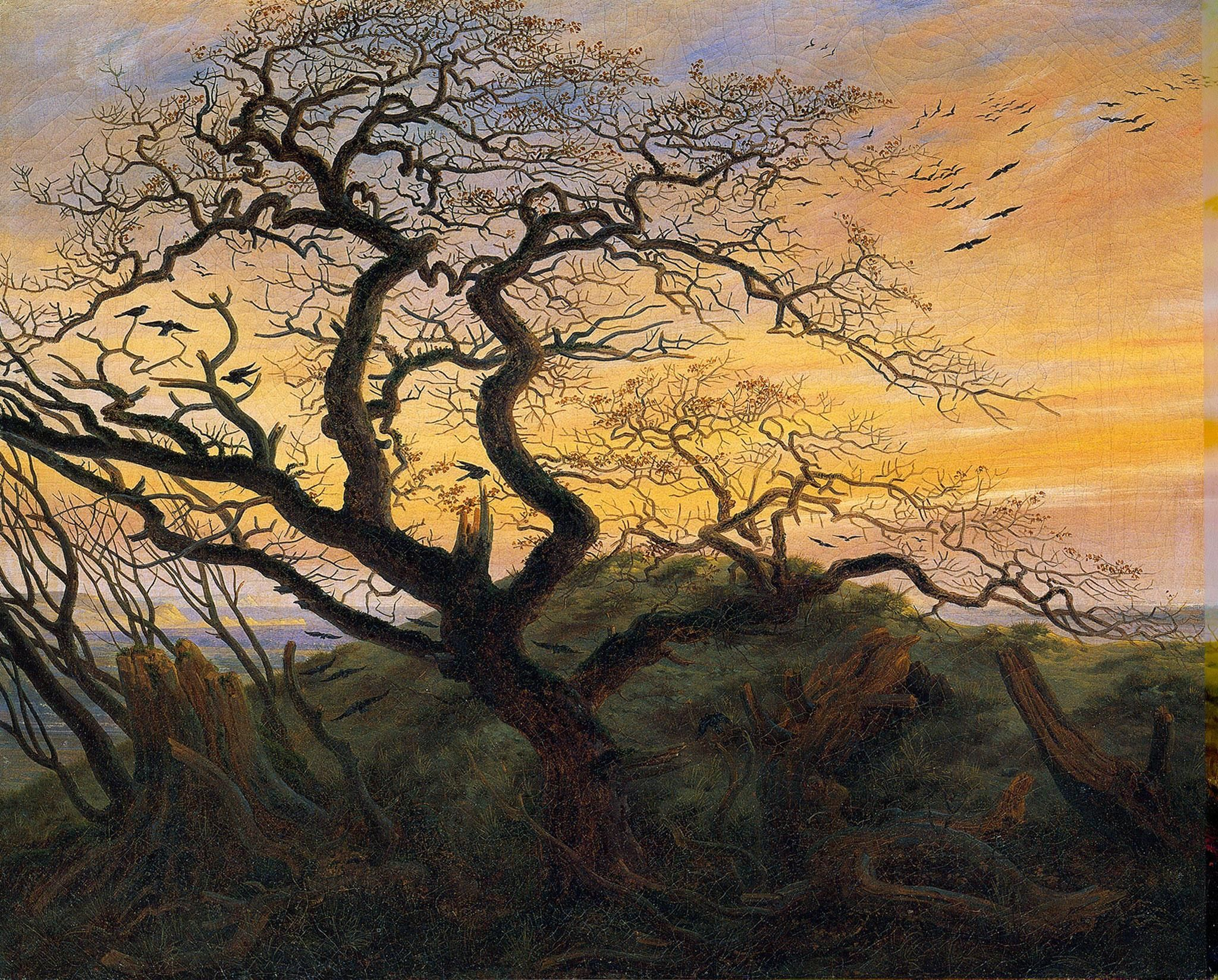 Caspar David Friedrich, Tree of crows (coast of the Baltic Sea),1822.jpg