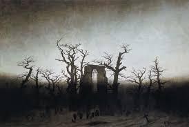 Caspar David Friedrich, 떡갈나무 숲의 대수도원 묘지, 1809-10.jpg