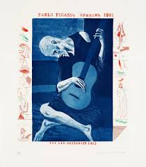 David Hockney, The Old Guitarist from The Blue Guitar, 1976-77.jpg