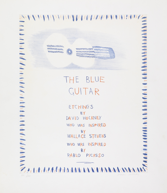 David Hockney, The Blue Guitar, Frontispiece From The Blue Guitar, 1976-1977 - Etching.jpg