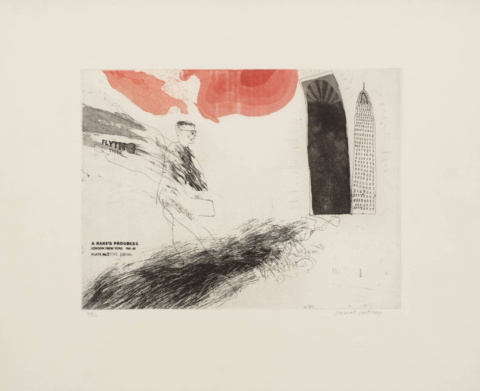 "David Hockney, ""The Arrival"" From A Rake's Progress, 1961-63 - Etching Edition of 50.jpg"