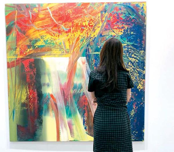 한국국제아트페어 국제갤러리 부스 (게르하르트 리히터 1986년작 `Abstraktes').jpg