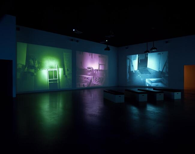 7Bruce Nauman, MAPPING THE STUDIO II WITH COLOR SHIFT, FLIP, FLOP & FLIP,FLOP (FAT CHANCE JOHN CAGE), 2001.jpg