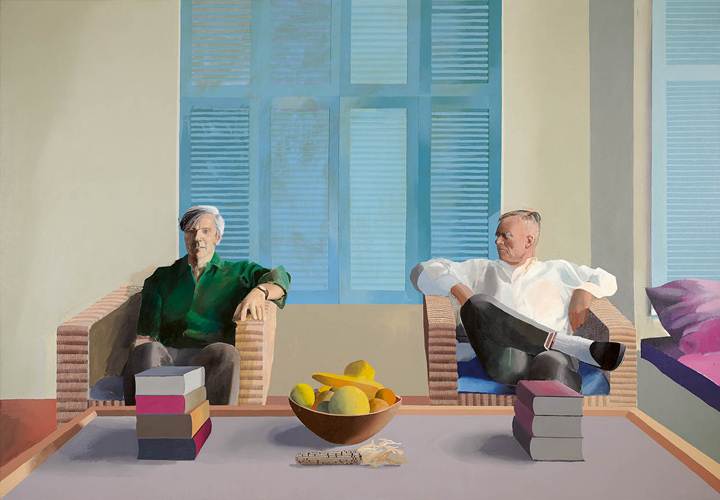 David Hockney, Christopher Isherwood and Don Bachardy, 1968.jpg