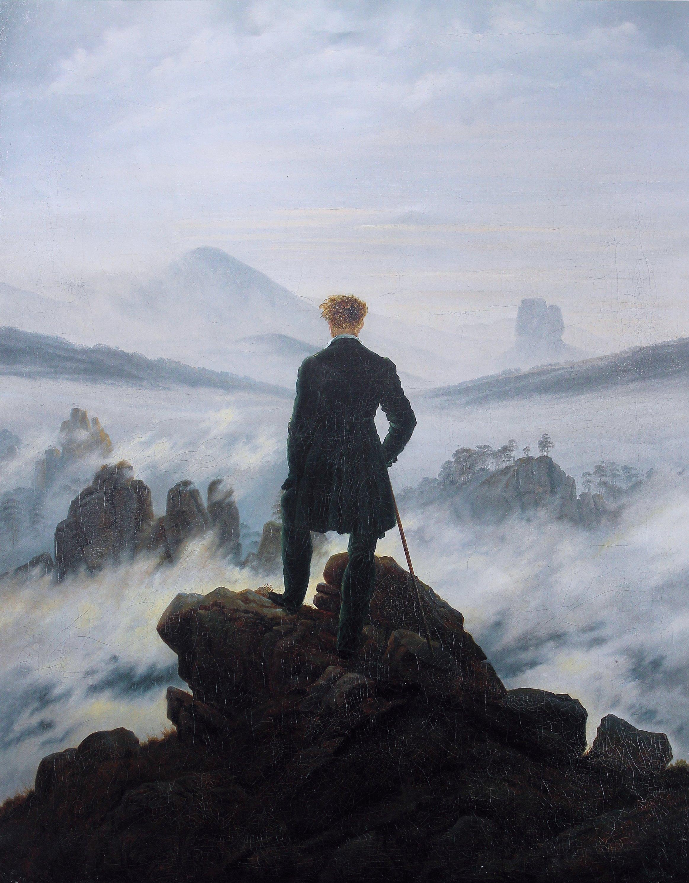 카스파르 다비드 프리드리히, Wanderer above the sea of fog, 1818.jpg