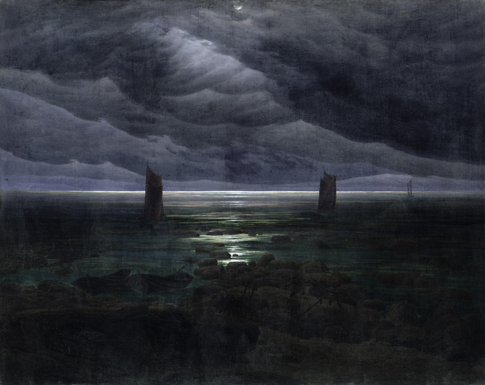 Caspar David Friedrich, Seashore in Moonlight, 1835-36.jpg