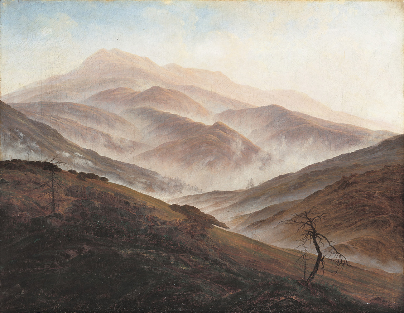 Caspar David Friedrich,Riesengebirge Landscape with Rising Fog,1819-1820.jpg