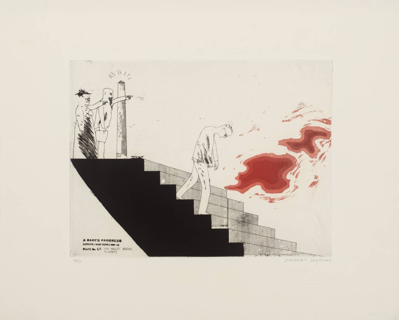Tate modern gallry 소장 David Hockney prints (A Rake's Progress 중 6a. The Wallet Begins to Empty(1961-3)).jpg