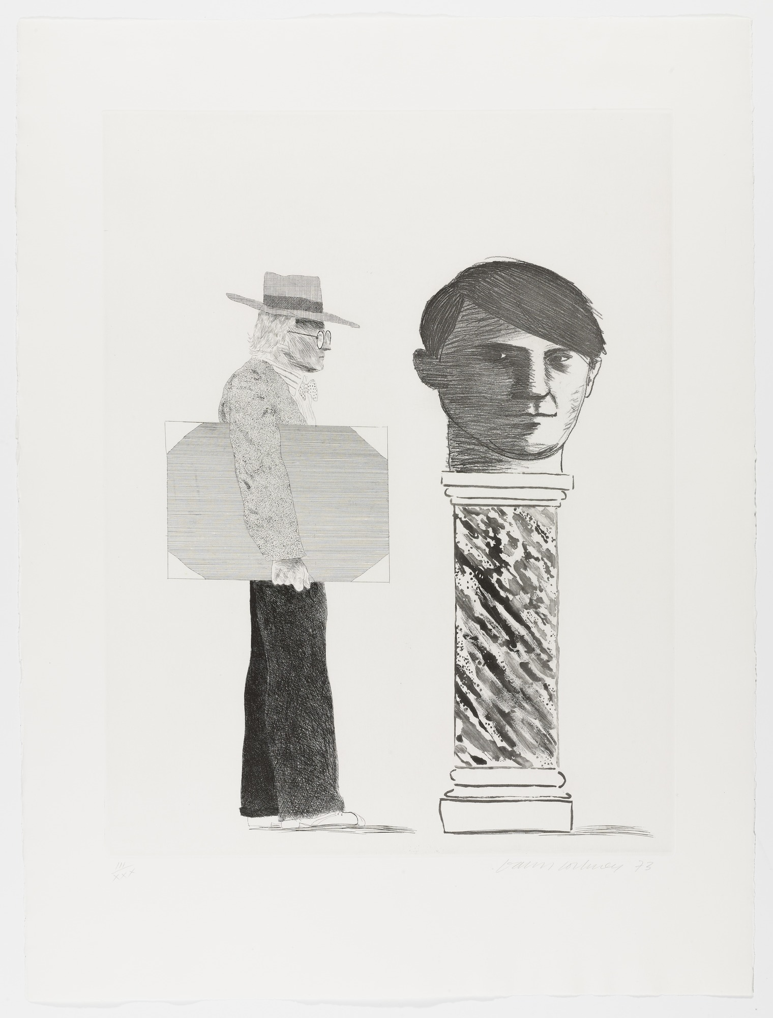 David Hockney, The Student - Homage to Picasso, 1973.jpg
