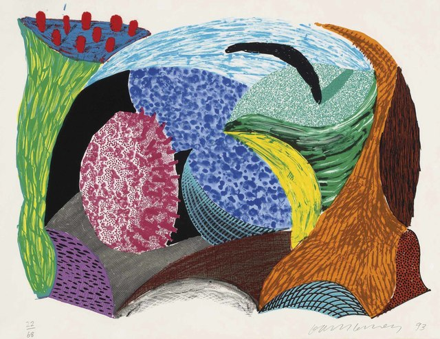 David Hockney Going Out, from, Some New Prints, 1993.jpg