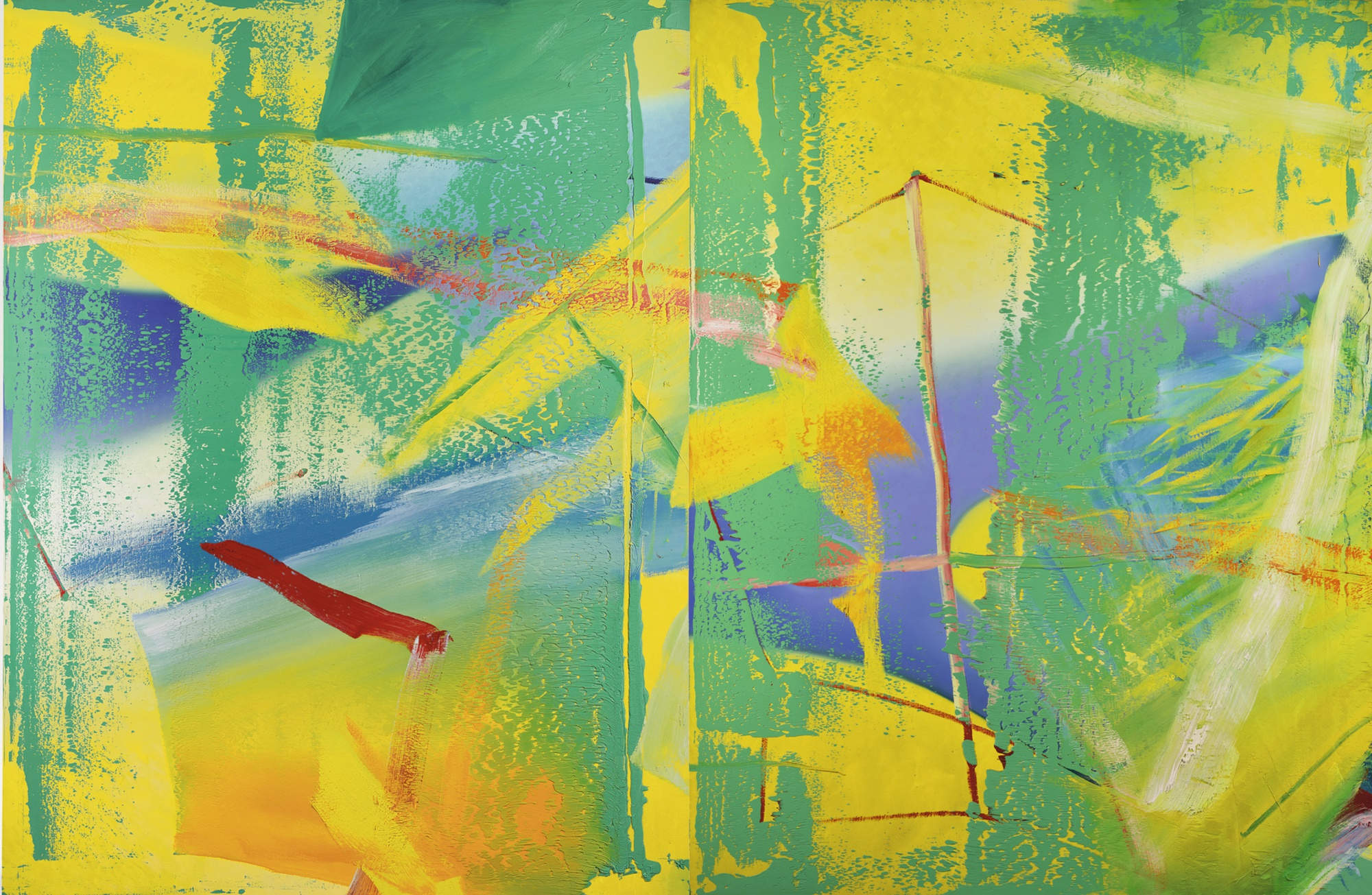 Gerhard Richter, Yellow-Green, 1982.jpg