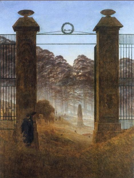 Caspar David Friedrich, The Cemetery Entrance, 1825.jpeg