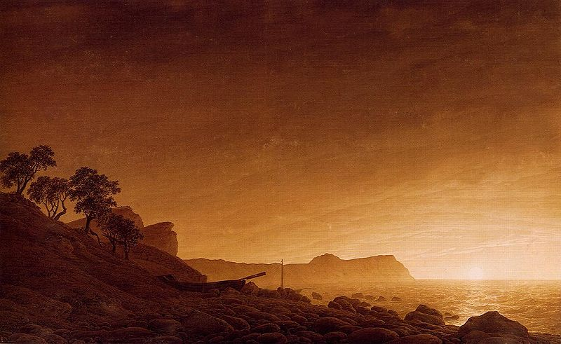 Caspar David Friedrich, View of Arkona with moon rising, 1805-06.jpg
