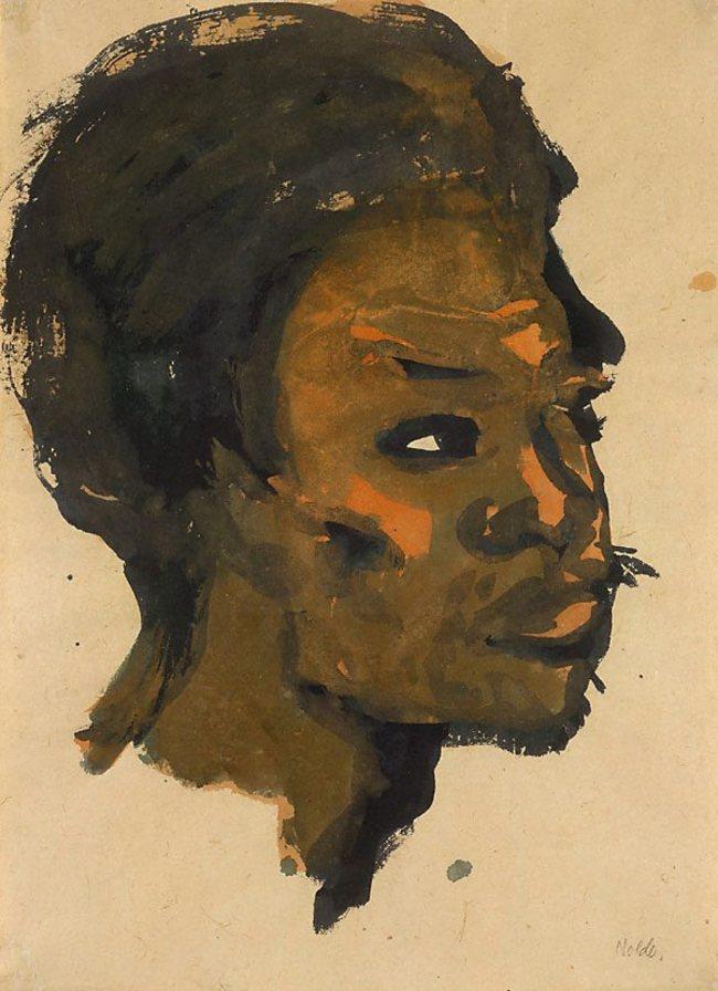 5Emil Nolde, Head of a South Sea Islander,1913-1914.jpg
