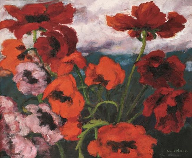8Emil Nolde, Großer Mohn (Rot, Rot, Rot) (Large Poppies [Red, Red, Red]), 1942.jpg