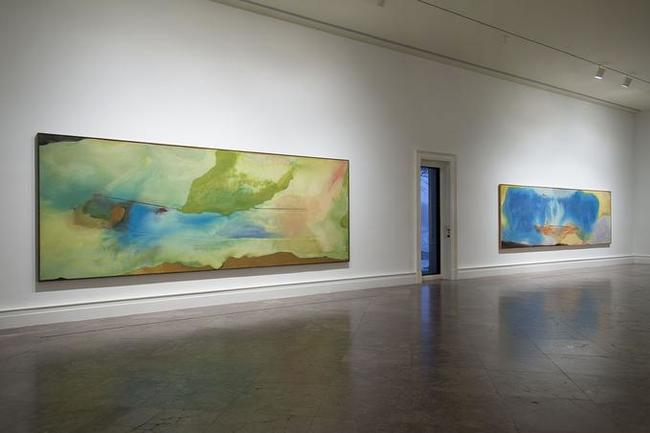 10Giving Up One's Mark, Helen Frankenthaler in the 1960s and 1970s(뉴욕 알브라이트-녹스 아트 갤러리 2015년 전시 전경).jpg