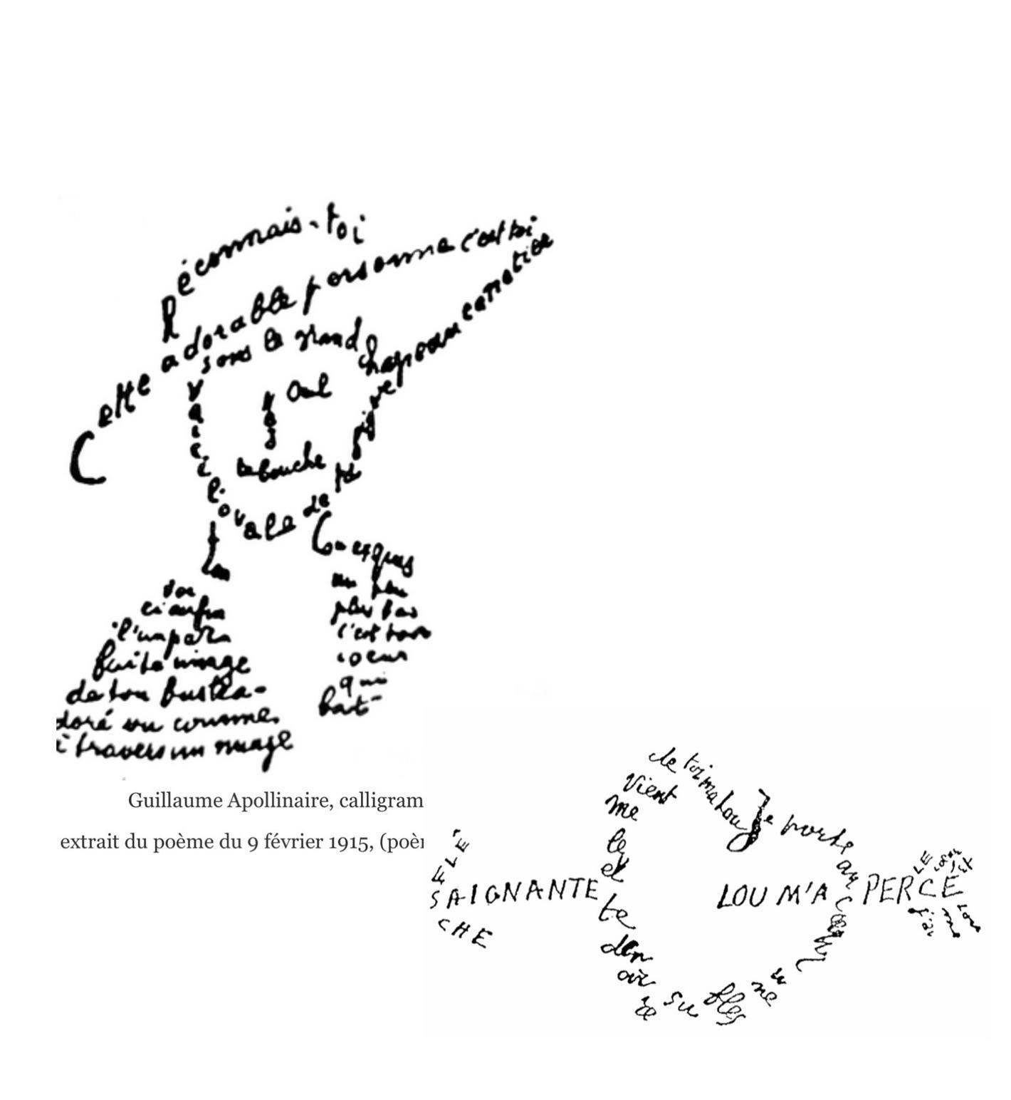 글자가 그림이고 그림이 글자가 되는 아폴리네르의 '캘리그램'.JPG
