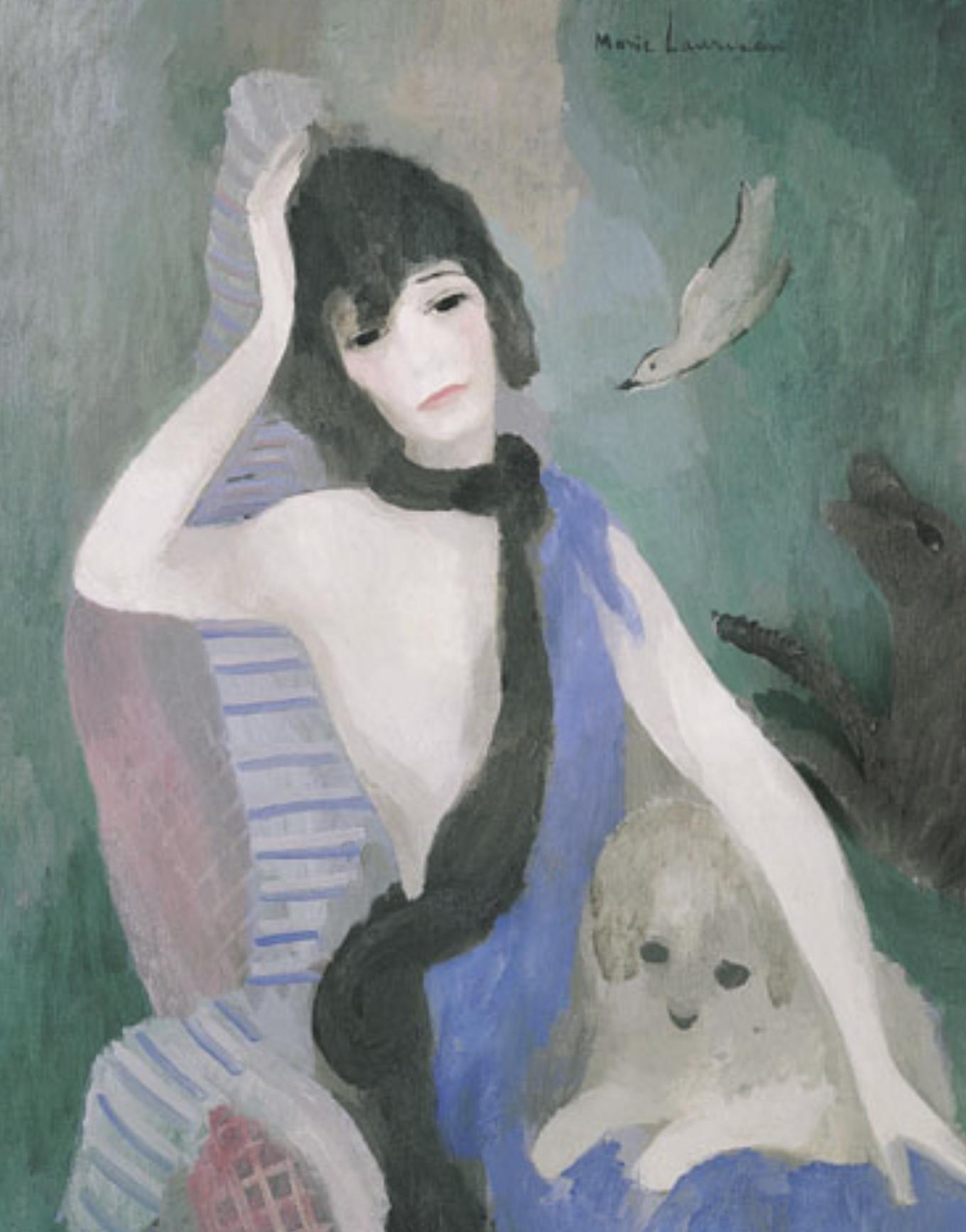 마리 로랑생의 대표적 작품 ' 코코 샤넬의 초상화'.jpg