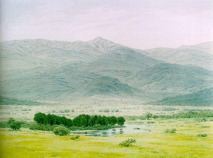 Caspar David Friedrich, Landscape in the Riesengebirge, 1798.jpg
