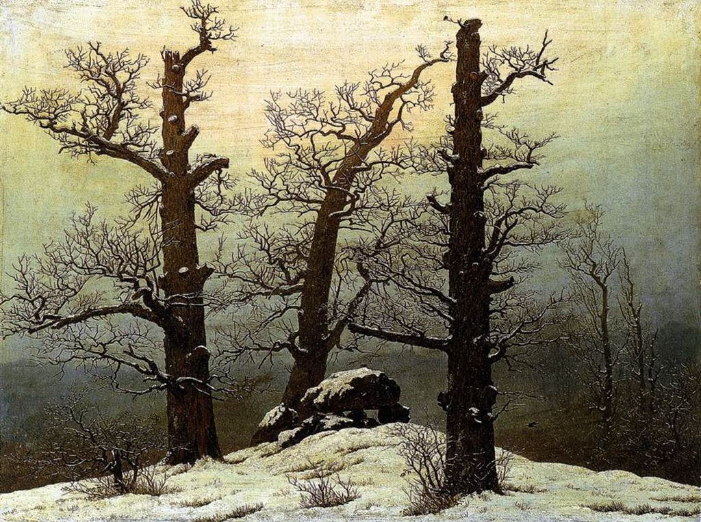 Caspar David Friedrich, Megalithic cairn in the snow, 1820.jpg