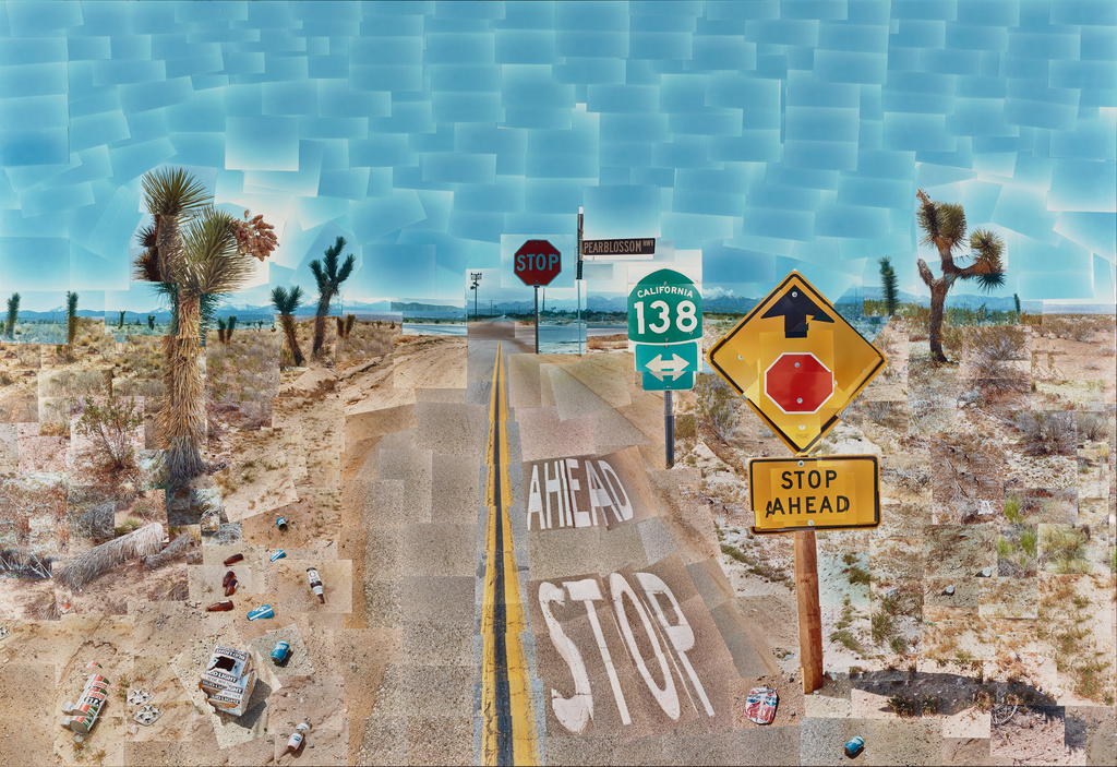 David Hockney, Pearblossom Highway, 11th-18th April 1986 - photographic collage.jpg