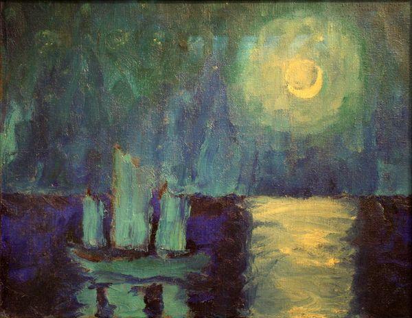 9Emil Nolde, Moonlit Night, 1913 – 1914.jpg