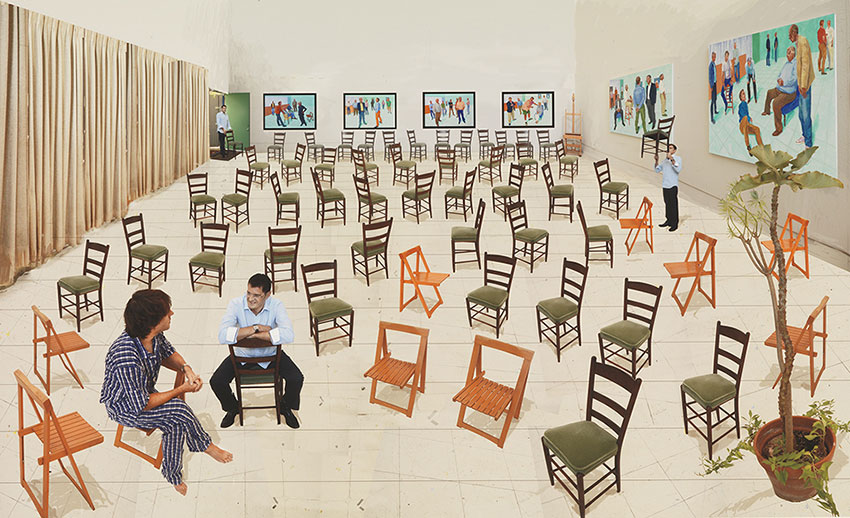 David Hockney, The Chairs, 2014 - Photographic drawing printed on paper, mounted on Dibond, Edition of 25.jpg