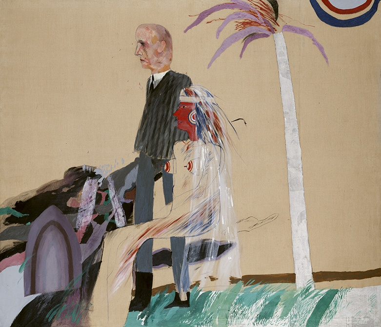 David Hockney, The First Marriage(A Marriage of Styles I), 1962.jpg
