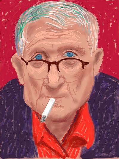 David Hockney, Self-portrait, 20 March 2012 (1219), 2012.jpg