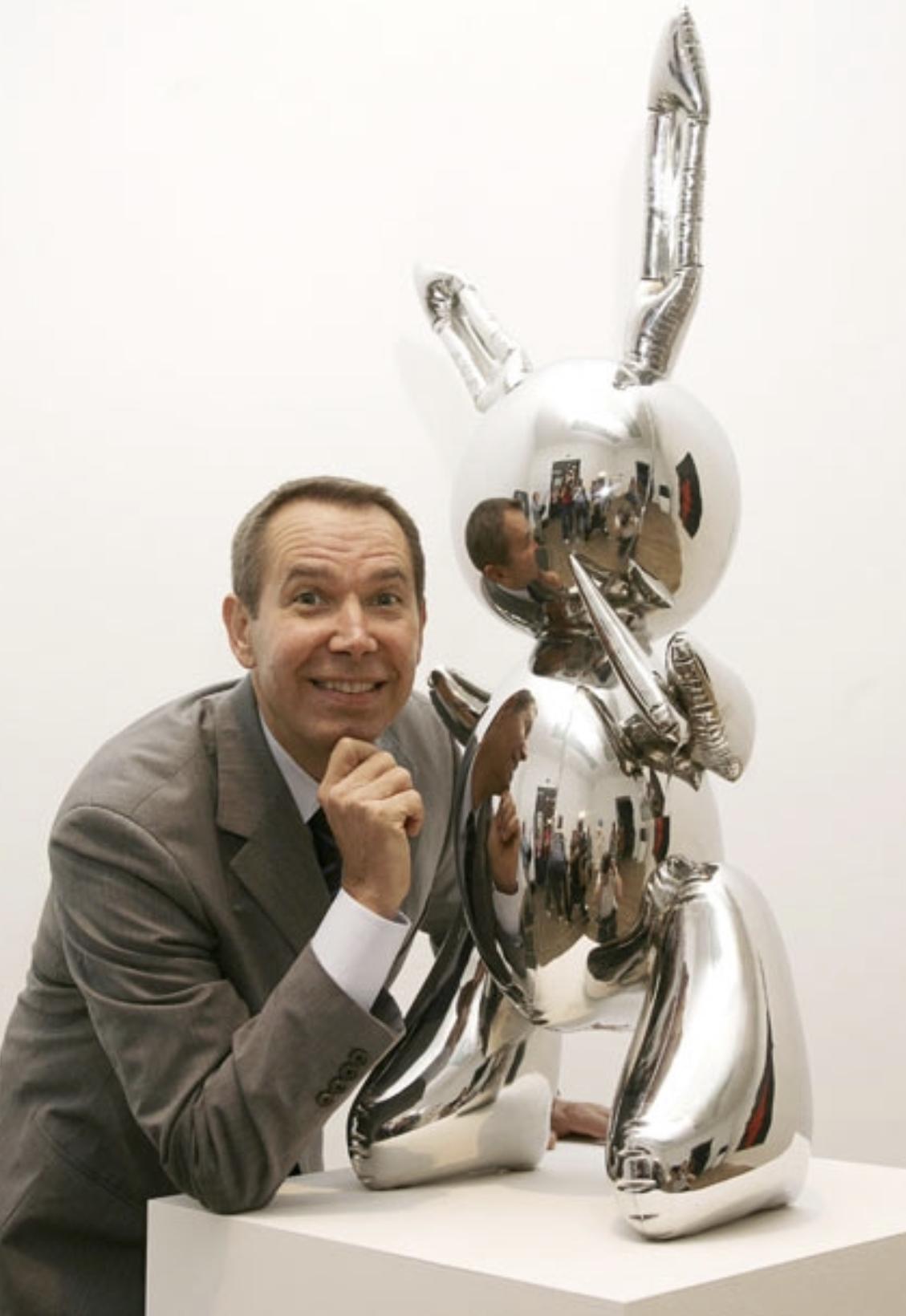 뉴욕 크리스티 경매에서 약 1085억원에 낙찰된 제프 쿤스 작품 '토끼'는 생존작가의 최고 기록이다..jpg